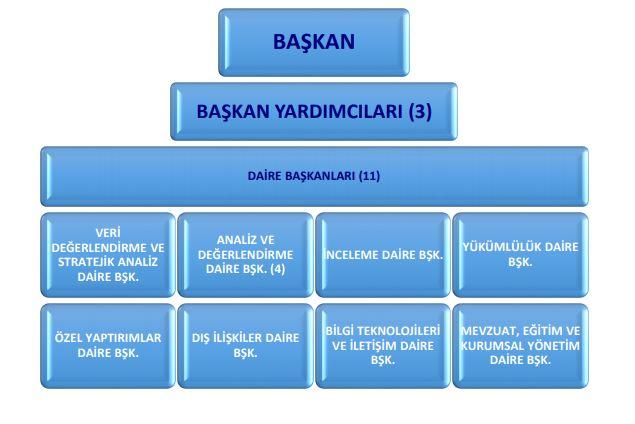 MASAK Mali Suçları Araştırma Kurulu Organizasyon Şeması