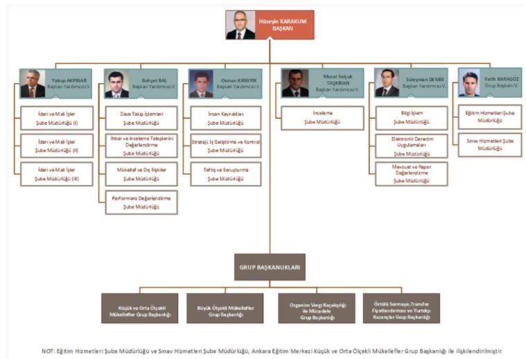 vergi denetim kurulu vdk organizsyon şeması