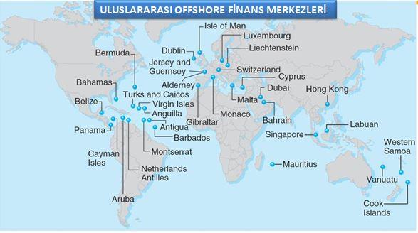 uluslararası offshore finans merkezleri (kıyı bankaları) listesi