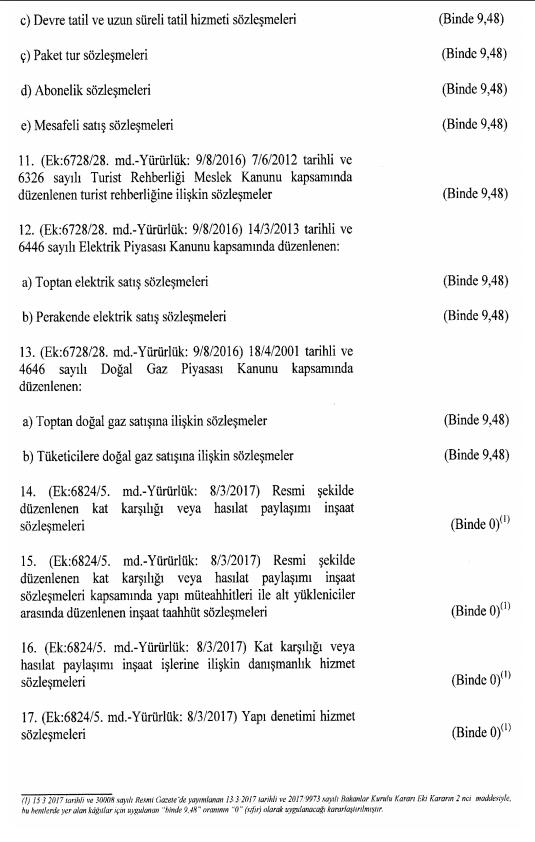 damga vergisi 2018 1 sayılı tablo 2