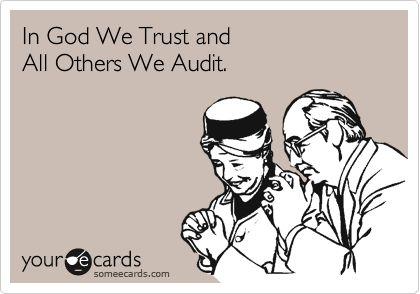 Allaha güveniriz gerisini denetleriz