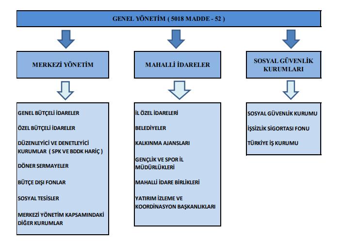 genel yönetim merkezi yönetim mahalli idareler şematik gösterim