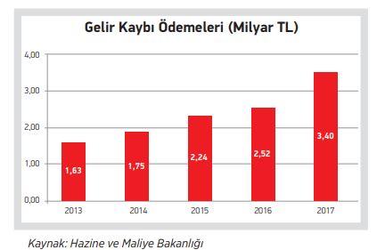 gelir kaybı ödemeleri 2012-2017
