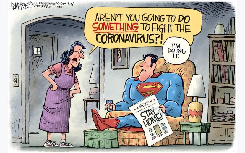 süpermen koronavirüsle mücadele