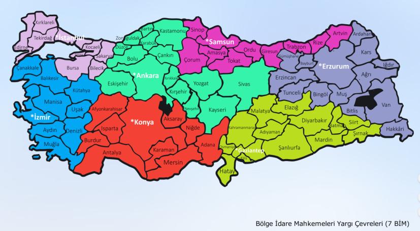 bölge idare mahkemeleri bim yargı çevreleri