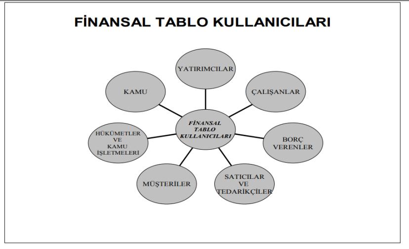 finansal tablo kullanıcıları